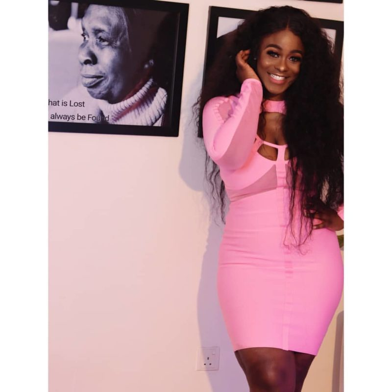 BBNaija star, Urial Oputa excited as she shares weight loss photos