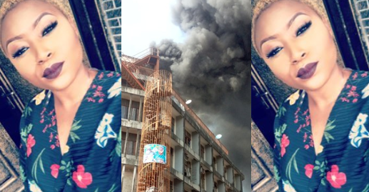 All my suffering and sweat for years got burnt - Lady laments after fire razes her shop in Balogun Market