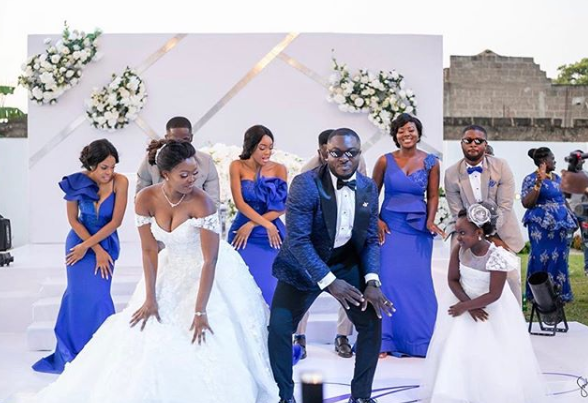 Actress Jackia Appiah's look alike wedding photos causes confusion on Social Media (Photos)