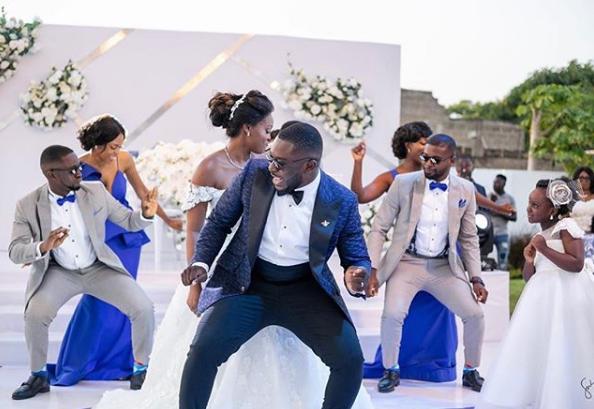 Actress Jackia Appiah's look alike wedding photos causes confusion on Social Media (Photos)