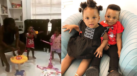 Cute video of Paul Okoye and his twins, Nadia and Nathan performing a song together