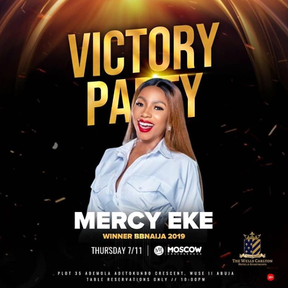 Mercy announces victory party in Abuja today, see time and venue (Photo)