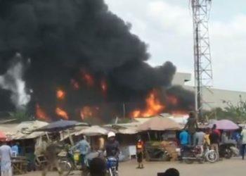 Fire guts Dangote factory in Ogun (VIDEO)
