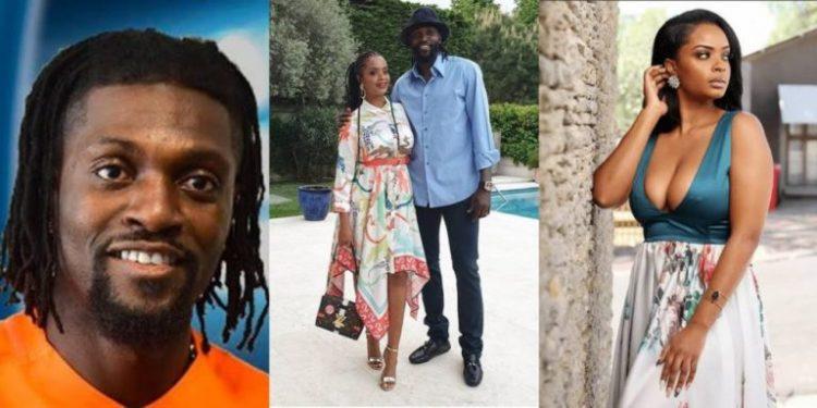Footballer Emmanuel Adebayor and Dillish Mathews split
