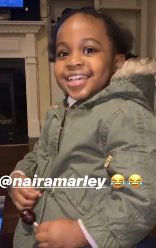 Cute video of Davido's daughter, Imade Adeleke singing Naira Marley's soapy song