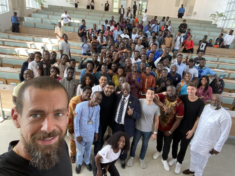 Twitter CEO, Jack Dorsey visits University of Lagos (Photos)