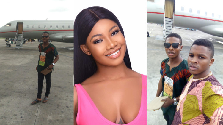 Tacha's Port Harcourt fans slept overnight at the airport to welcome her