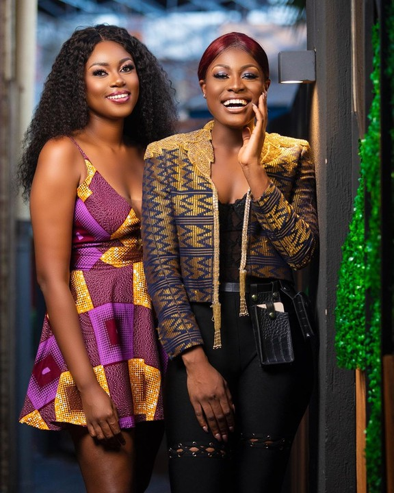 Alex Unusual pictured with Ghanaian actress, Yvonne Nelson