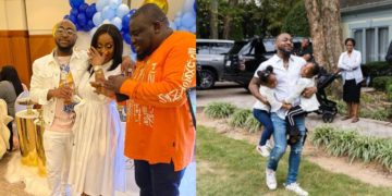 You were not this happy when you gave birth to your daughters - Fans blasts Davido and his fans