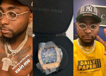 It hurt my account balance but I had to do it - Davido says as he buys N55million wristwatch (Photos)