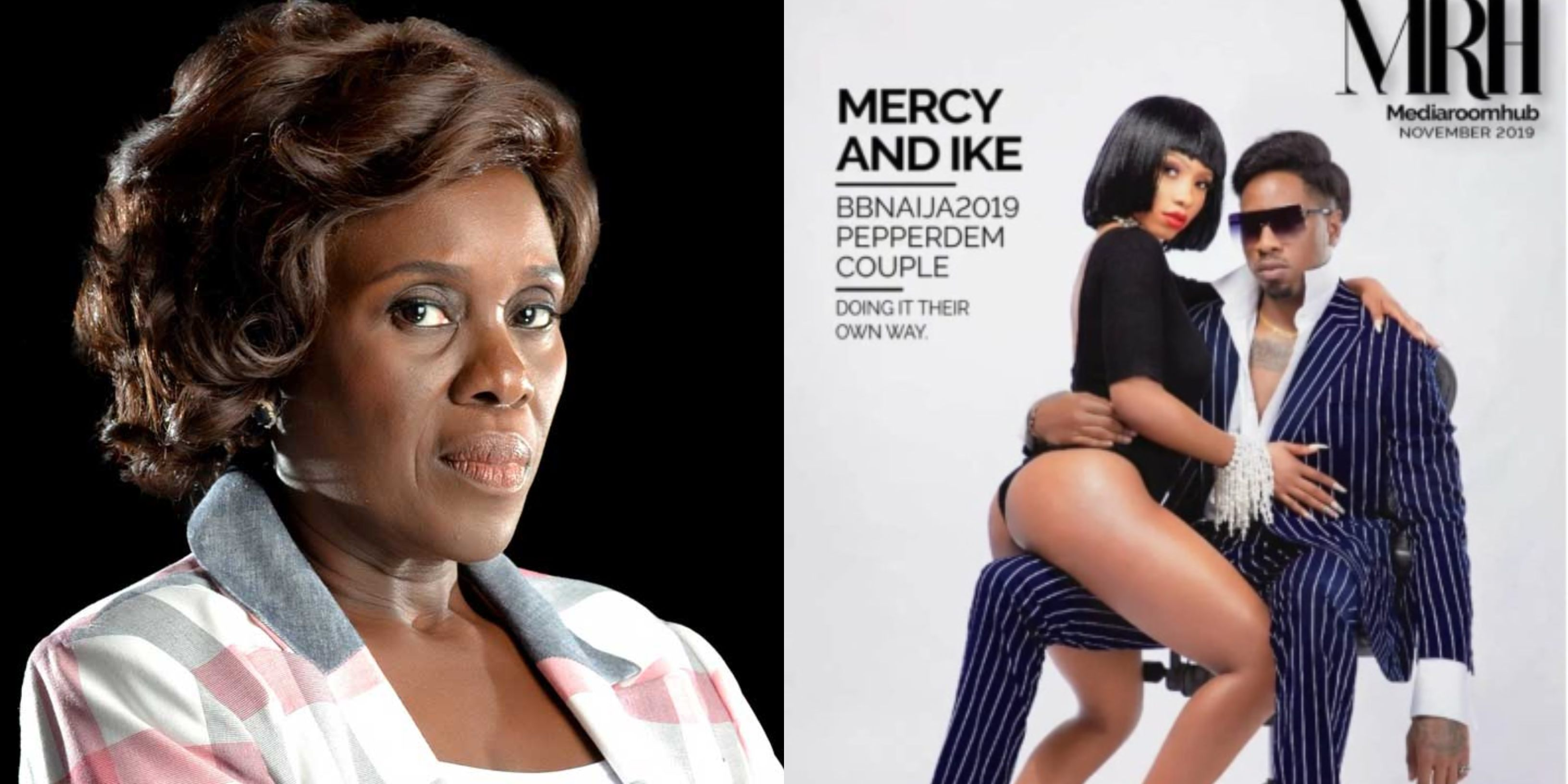 """""""The lady half exposed, the man fully clothed"""" – Actress Joke Silva blast Mercy and Ike (Photos)"""