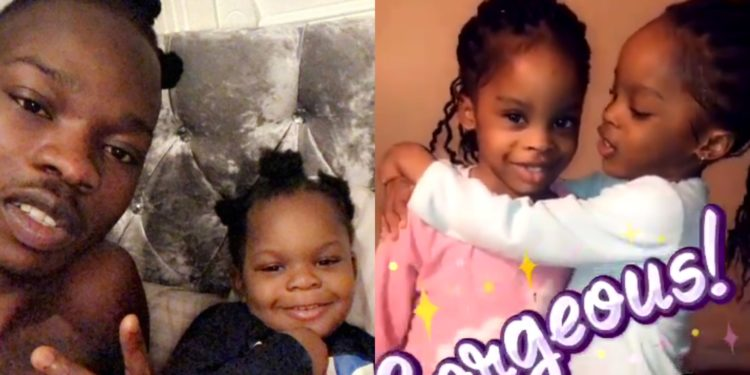 Naira Marley shares cute video of his identical twin daughters playing with each other