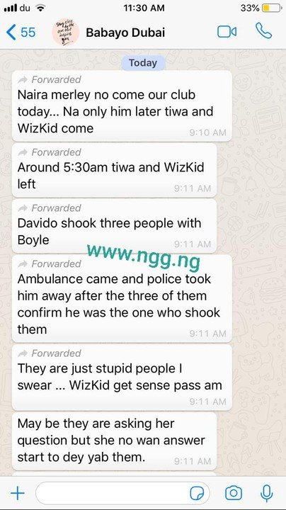 Davido arrested for allegedly stabbing a man three times in Dubai Club