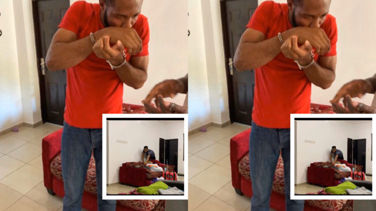 Nigerian lady sets hidden camera to catch her child's Home lesson teacher who has been stealing from her (Video)