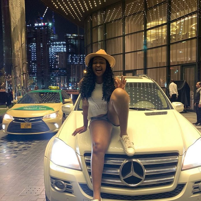 Actress Etinosa in tears as fan surprises her with Mercedez Benz gift in Dubai (Video)
