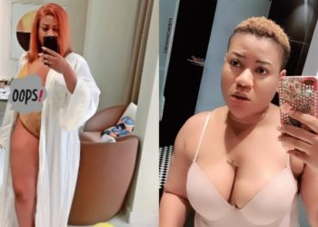 Actress Nkechi Blessing teases her fans with bedroom photos as she vacations in Dubai (Photos)