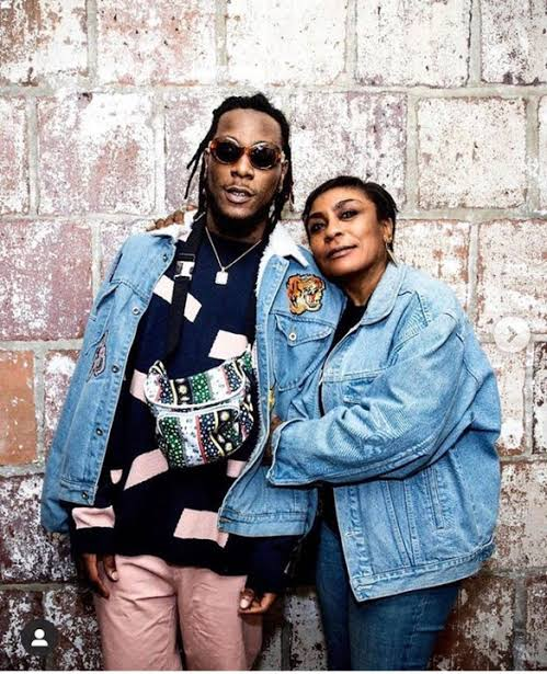 Burna Boy's mother, Bose Ogulu reacts to her son's Grammy Nominations (Photo)