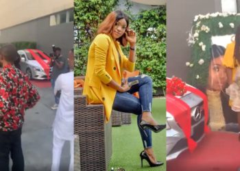 BBNaija's Thelma receives Benz gift from fans during her meet and greet in Lekki (Video)