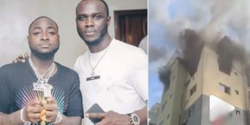 Davido's DMW road manager, Obama loses his Lekki home fire (Video)