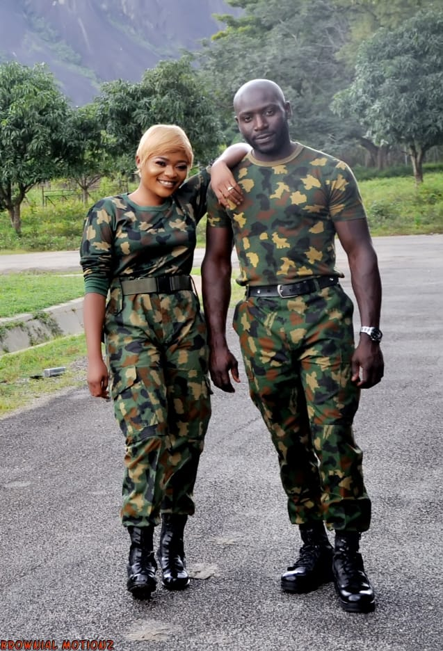 Lovely pre-wedding photos of a corps member and her Soldier fiance