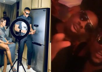 TV Stars Ike Onyema and Kim Oprah party hard at Omashola's Homecoming party in South Africa (Videos)