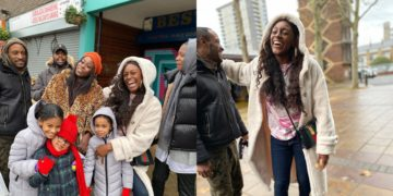 Home sweet home - Mike's wife Perri returns to London after two months In Nigeria (Photos)