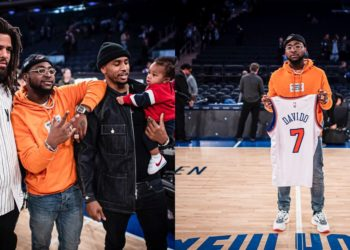 Davido pictured with J.Cole and Trey Songz in New York (Photos)