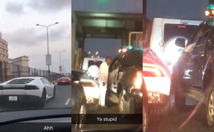 Throwback to the hilarious moment Police van hit a Lamborghini in Lagos traffic (Video)