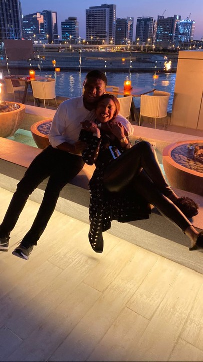 Tonto Dikeh finally reveals her mystery boyfriend in Dubai, spends cozy moment with him (Photos)