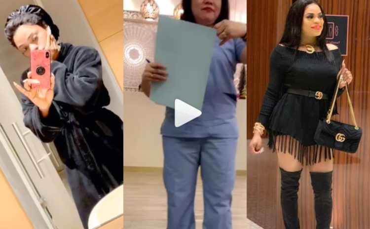 I can't sit on my buttocks for one month - Bobrisky says as he finally completes his plastic surgery (Video)