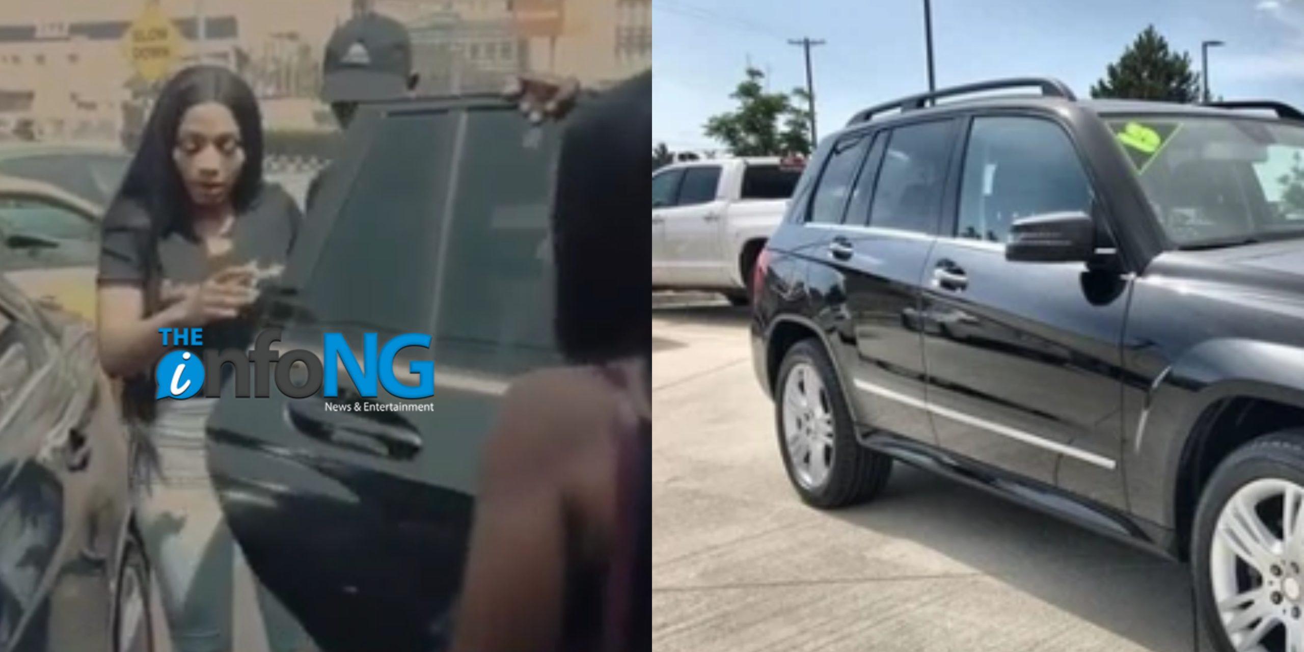 Mercy Eke dumps BBNaija truck, buys brand New Mercedes Benz GL 350 (Video)