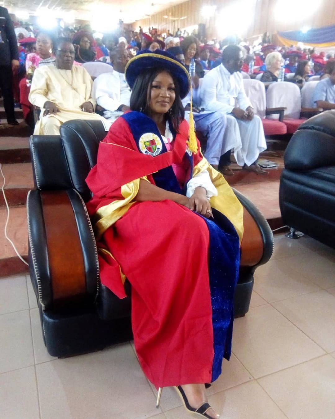 Nollywood Actress, Omotola bags Honorary Degree from Igbinedion University