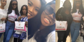Diane's diehard fan gifts her N250k during her meet and greet in Abuja (Photos)