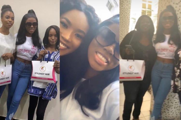 Diane's diehard fan gifts her N250k during her meet and greet in Abuja (Photos)