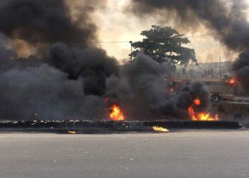 Again, tanker catches fire at Otedola Bridge