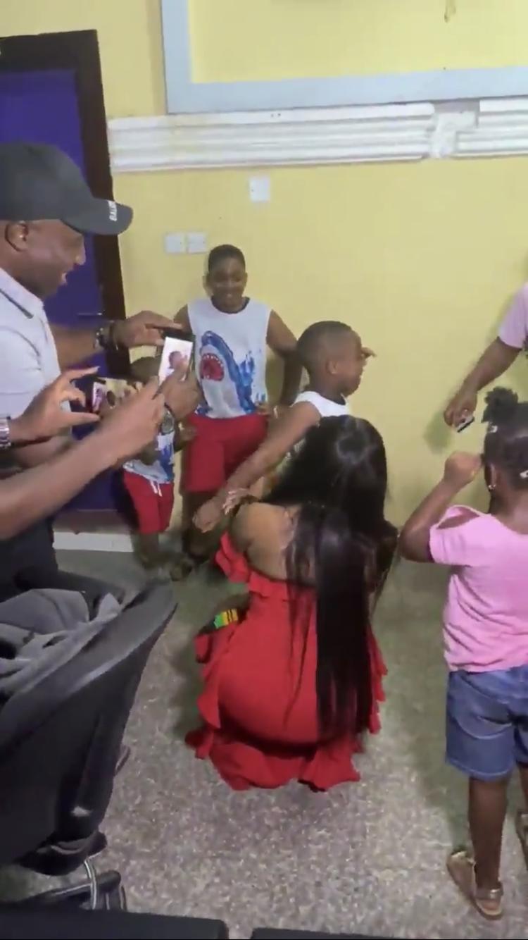 Awww! Young Tacha fan burst into tears as he meets his Queen (Watch Video)
