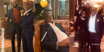 Father and son: Mike and RMD enjoy their time together as they shoot a new movie in Spain (Video)