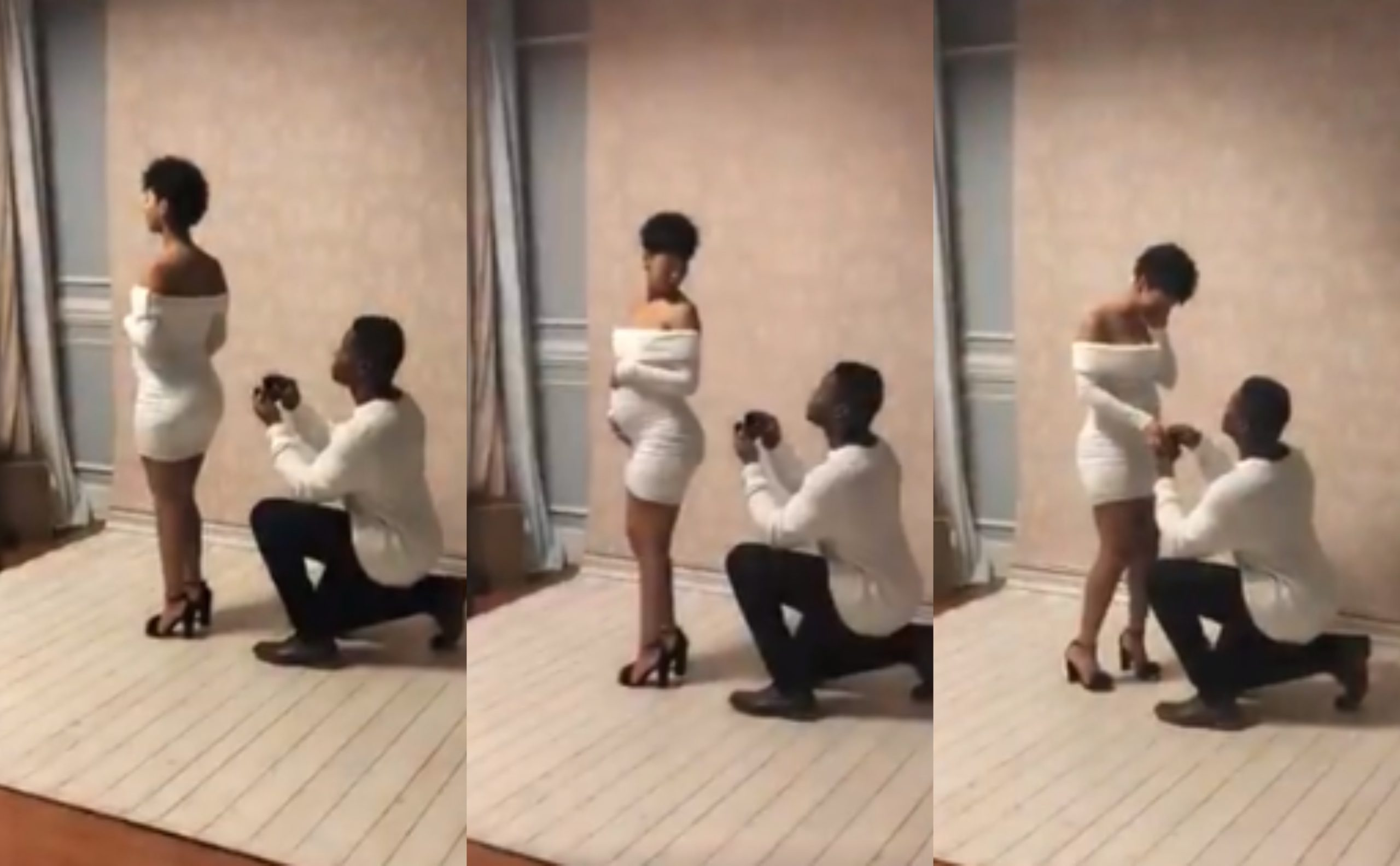 Man proposes to his pregnant girlfriend during their maternity shoot (Video)