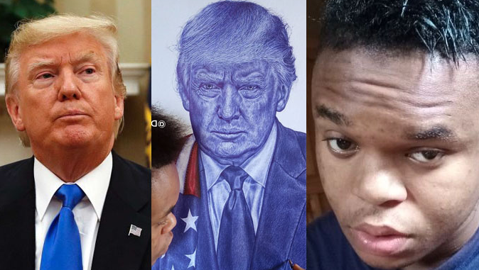 Invite him to The White House - Nigerians react after Trump reacted to twitter artist drawings