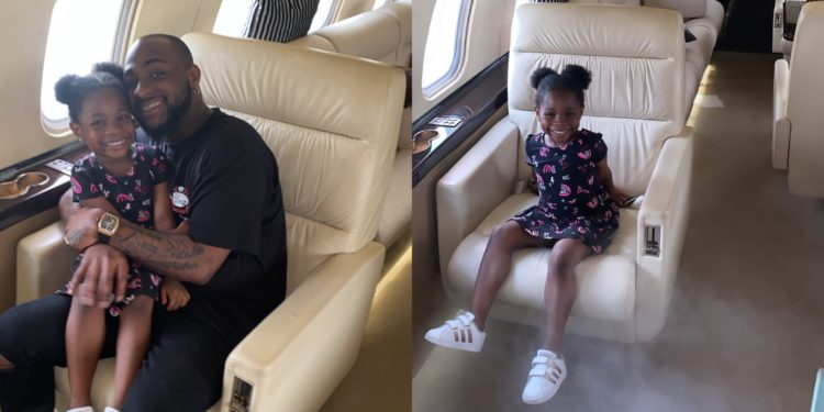 I flew in this morning to drive her to school - Davido excited to meet his daughter, Imade Adeleke (Video)