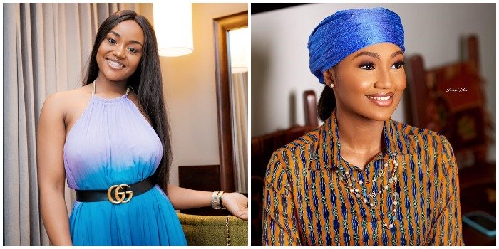 The smile, class and carriage – 5 photos of Zahra Buhari and Chioma Avril to prove they look like sisters