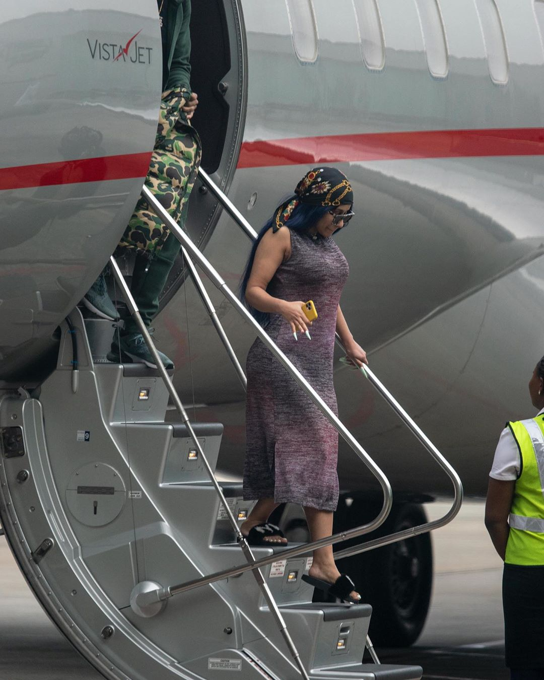 First photos of Cardi B in Lagos as steps down from her private jet (Photos)