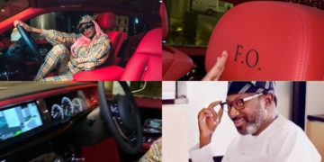 "See the interior of Femi Otedola's N200 Rolls Royce Phantom 2020 - ""F.O"" customized on steering and seats (Video)"