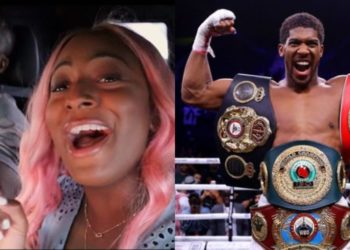Its official! Anthony Joshua didn't just win the belts, he won Cuppy's heart - See how she celebrated him (Photo)