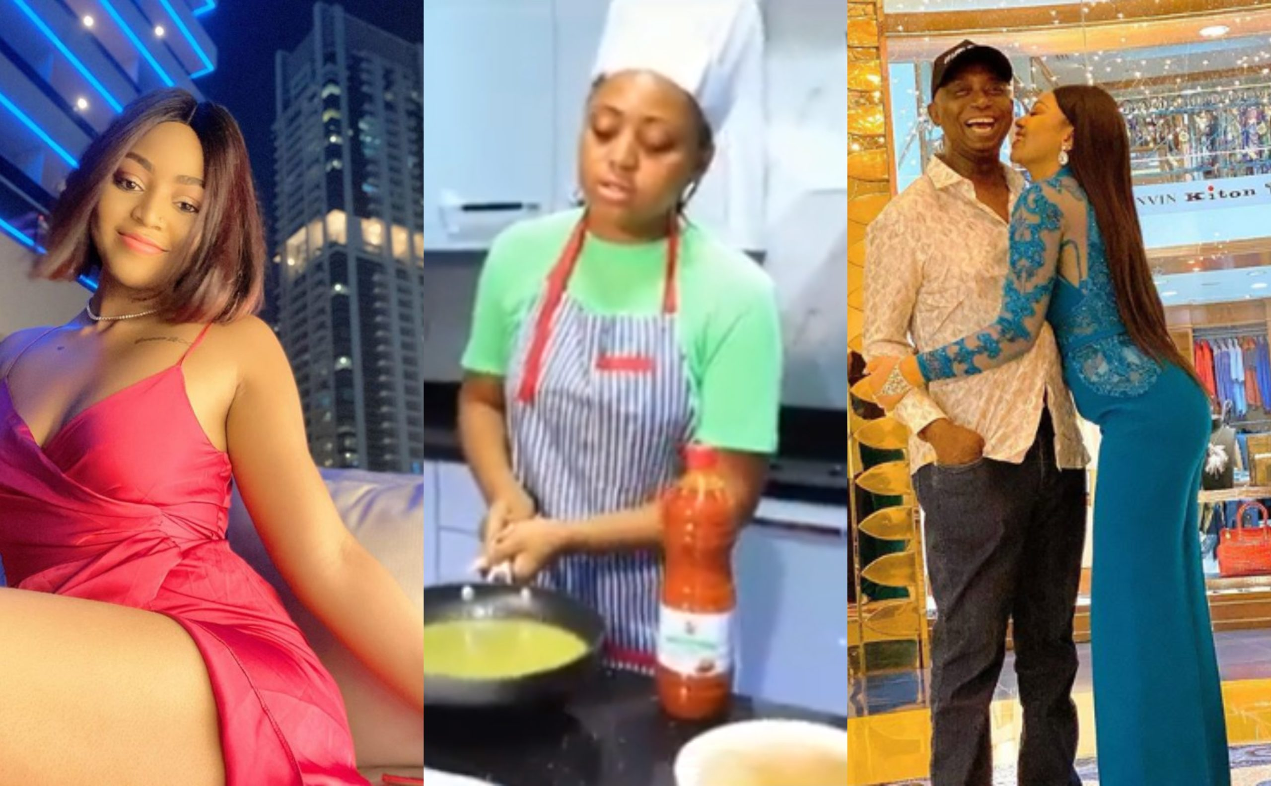 Regina Daniels Shows off how she cooked delicious Okro Soup for her husband Ned Nwoko (Video)