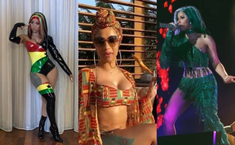 Nigerians on Twitter drag Ghanaians after lights went of during Cardi B's performance in Ghana (Photos)