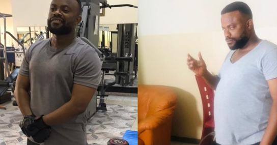 Comic Actor, Okon Lagos shows off unbelievable body transformation