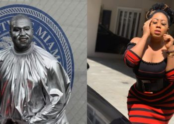 I can marry Kanye West, I love his craziness - Moyo Lawal reacts to Kanye's body paints