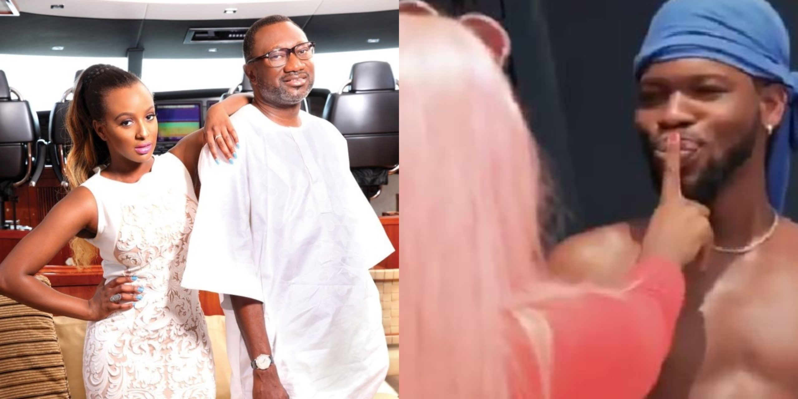 Femi Otedola reacts after Broda Shaggi kissed his daughter, Cuppy in new Comedy Skit