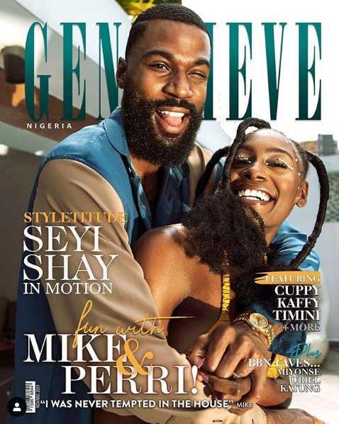 TV star Mike Edwards and his wife, Perri shakes Cover Genevieve Magazine December Issue (Photo)